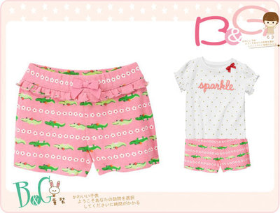 【B& G童裝】正品美國進口GYMBOREE小鱷魚圖樣粉紅色棉質短褲2yrs