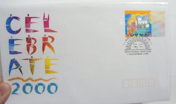 (全新) 澳洲 1999 年- 跨2000年紀念郵票 - 首日封