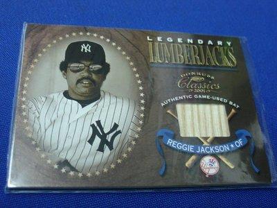 阿克漫427-11~MLB-2001年Donruss Classics球棒特卡Reggie Jackson只有一張
