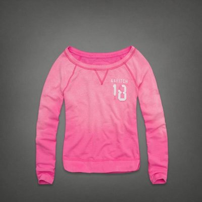 ㄚ貓的店~全新Abercrombie & Fitch (A&F) 粉色圓領T~尺寸:L號~$999含運