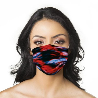 一次性口罩【10片裝】現貨紅紫黑扎染口罩顏色成人印花一次性平面口罩3層民用mask