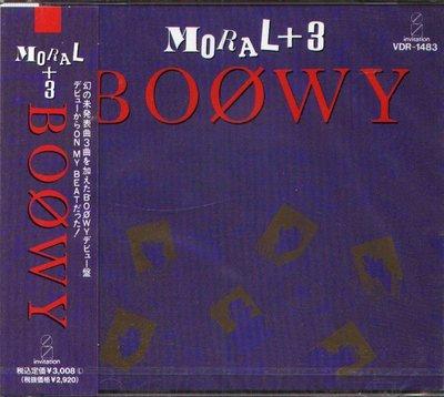 K - BOOWY - MORAL+3 1988 - 日版 - NEW