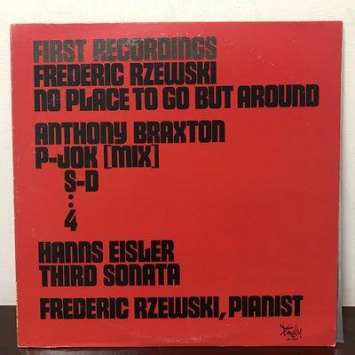晨雨黑膠【古典】美版/Frederic Rzewski - No Place To Go But Around(現代樂)