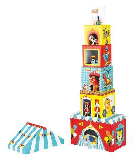 ~❤美國寶寶的衣櫥❤~ (現貨)法國Janod創意兒童智玩-盒中盒故事集-草地馬戲團