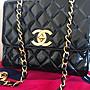 (已售出)Chanel vintage 大logo 黑金包