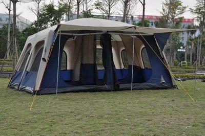 免運 Alltel 旗艦級帳篷 8~12人 2房1廳 460x360cm 露營帳篷 送地墊撐桿 帳蓬 二房一廳 外銷澳洲