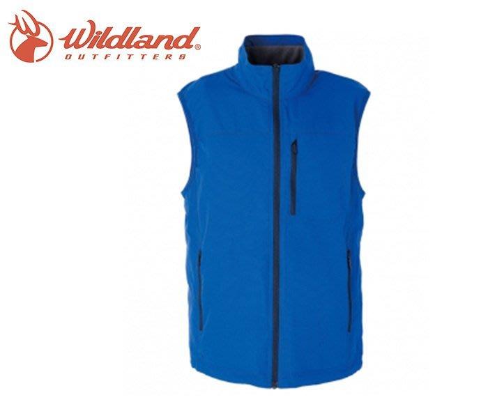 丹大戶外用品 荒野【Wildland】男防潑水防風保暖背心 W2708-77 中藍色