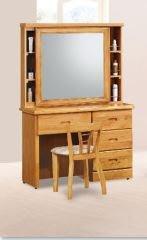 【南洋風休閒傢俱】精選時尚化妝櫃 梳妝櫃  設計櫃-提爾赤陽木化妝台(上拉鏡) (含椅)  CY68-804