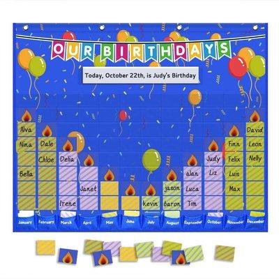 Dora正韓店學校學生生日慶祝卡掛袋 birthday pocket chart