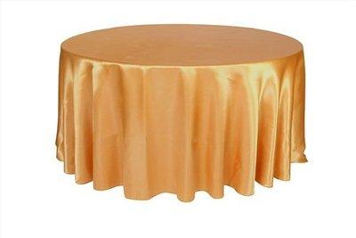 居家家飾設計 桌巾/圓檯布300cm圓 緞面 一條起訂 適用150cm/180cm/210cm/240cm圓桌 雙針車邊