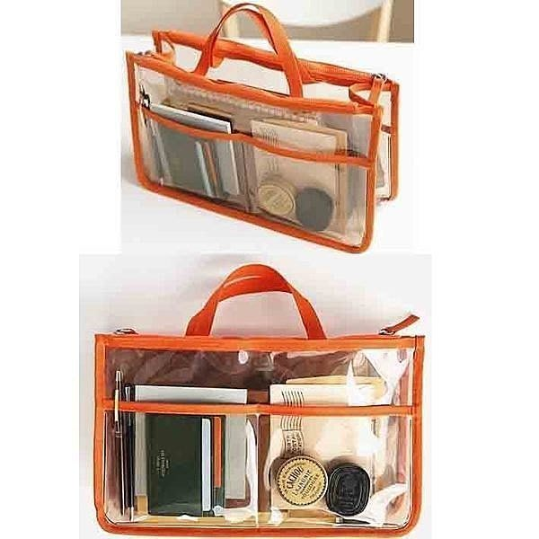 【葳爾登】旅行箱用品透明果色約旅行收納包皮包內袋防水收納袋盥洗包袋中袋化妝包K5
