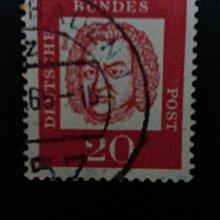 德國音樂家巴哈二十分實寄票(1960年代)       P002