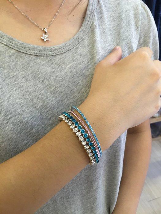 【江南小舖】正韓-大顆粒鑲鑽手環