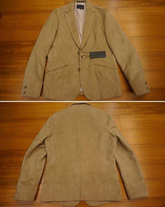 歐世麗 O-THREE 休閒西裝外套 麂皮質感