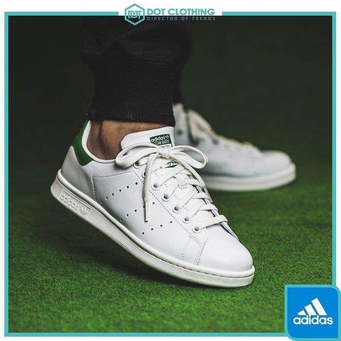 DOT 聚點 Adidas Originals Stan Smith 白綠 皮革 男款 經典 M20324 Kanye