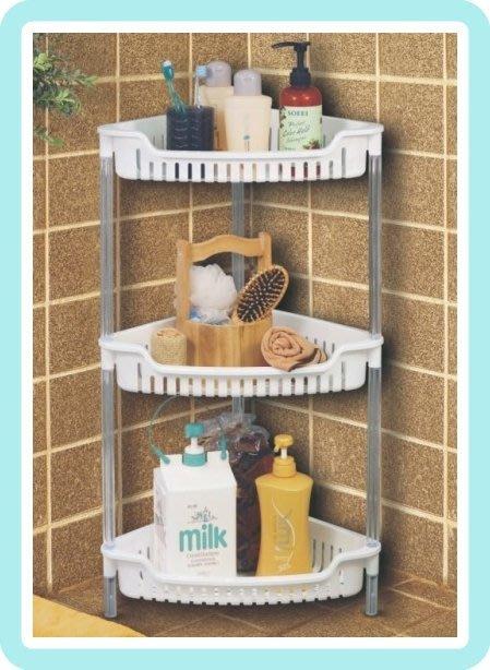 【塔克百貨】 MIT 三層 三角架 收納組 收納籃 整理架 塑膠 收納 置物 LAE283