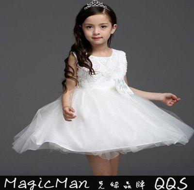 【現貨】 花童禮服 公主裙白紗裙 (白色/140.紅色/140)WNN0134