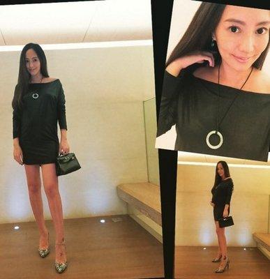 [我是寶琪] 關穎二手商品TORN BY RONNY KOBO 黑色洋裝