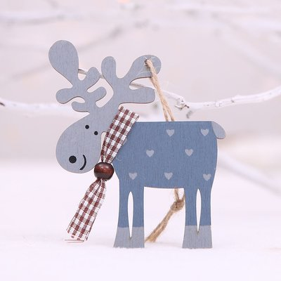 聖誕節---木片麋鹿掛飾