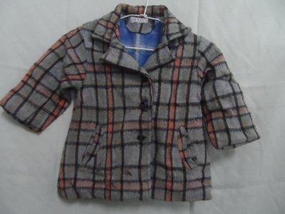 大熊舊書坊 -二手衣 童外套 寬37長52袖長30  50年代舊衣 起毛球-衣5