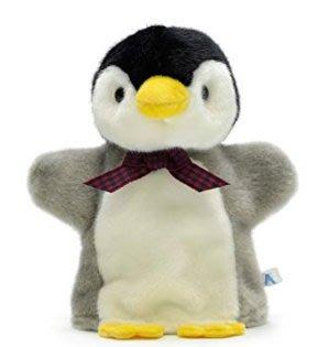 日本原裝進口 好品質 正品企紅色領帶絨毛玩偶娃娃手上手掌掌上企鵝玩偶手玩企鵝動物擺件送禮禮物 6657c
