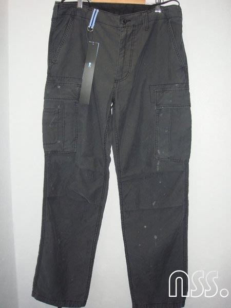 特價【NSS】uniform experiment 12 PAINTED CARGO PANT 六口袋 潑漆 褲 L