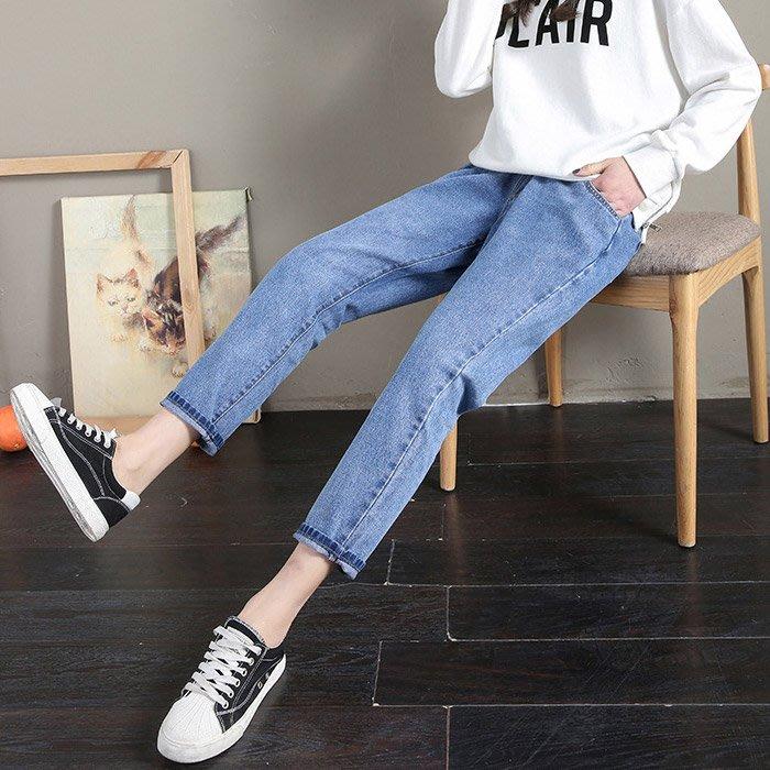 【愛天使孕婦裝】82376純棉 直筒版 男友褲 牛仔褲 孕婦褲(可調腰圍)