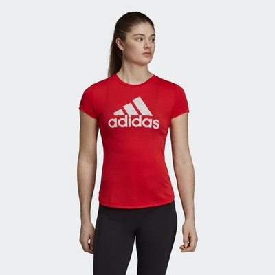 》P.S 》ADIDAS ORIGINAL 短TEE 透氣 運動 訓練 短T 紅色 女款 EC4708