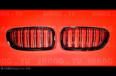 BMW F10 F11 M5 式樣 水箱罩 (雙槓亮黑)