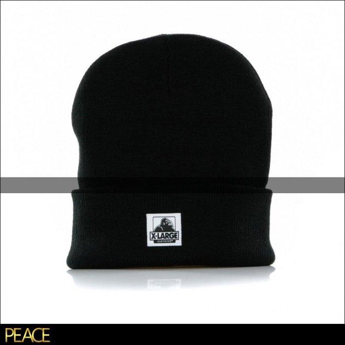 【PEACE】美國進口 X-LARGE_OG CUFFED BEANIE 針織 反折 毛帽 黑色
