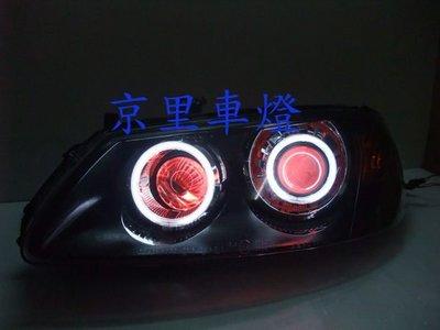 京里車燈專網  日產 SENTRA 180 N16 01 02 03年 一體式黑框雙光圈雙天使魚眼大燈組