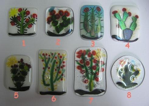 豬豬姨陶屋~仙人掌~仙人掌玻璃磚~馬賽克拼貼~DIY~植物玻璃磚~