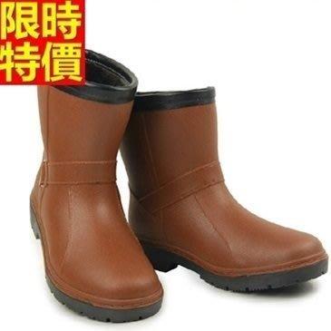 中筒雨靴 雨具-冬季加厚保暖戶外輕便男女雨鞋(單雙)3色67a17[獨家進口][巴黎精品]