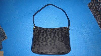 ~保證真品 Aigner 黑色真皮和帆布款肩背包 大方包 置物包~便宜起標無底價標多少賣多少 台北市
