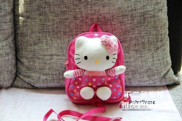 【格倫雅】^幼稚園書包 幼兒園書包 男女寶寶背包可愛 防走失 hello kitt29