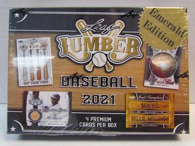 MLB 2021 Leaf Lumber Baseball 木片材料系列 棒球卡 卡盒