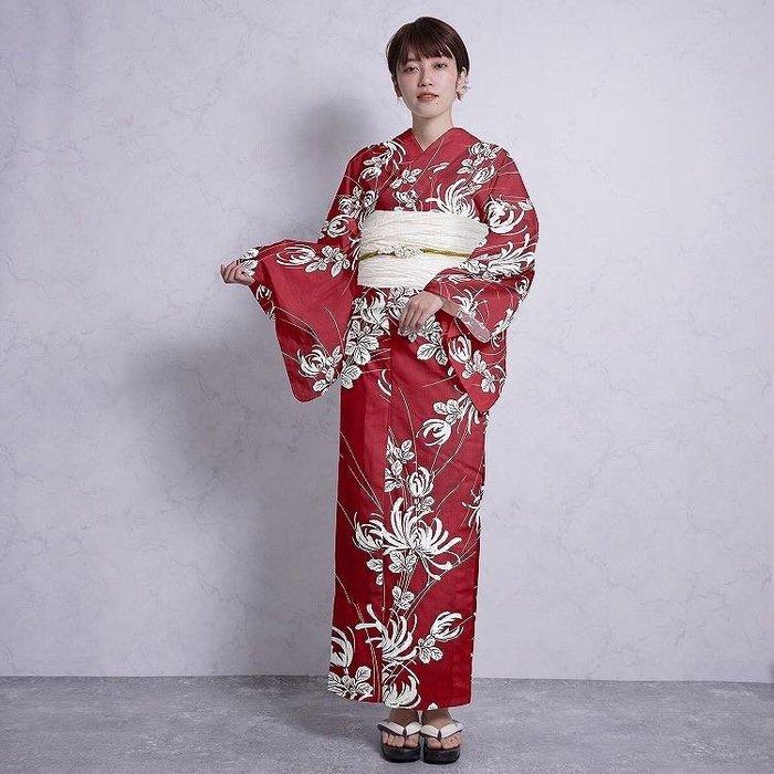 03日本和服浴衣女 傳統款式 棉面料 日本旅遊寫真和服