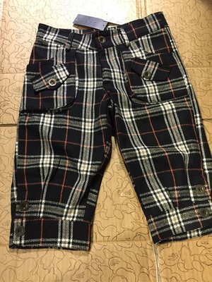 [變身館日本服飾] ~S.T.Y.M~七分褲~縮口~格紋~打褶~日本購入~全新現品~M~出清價