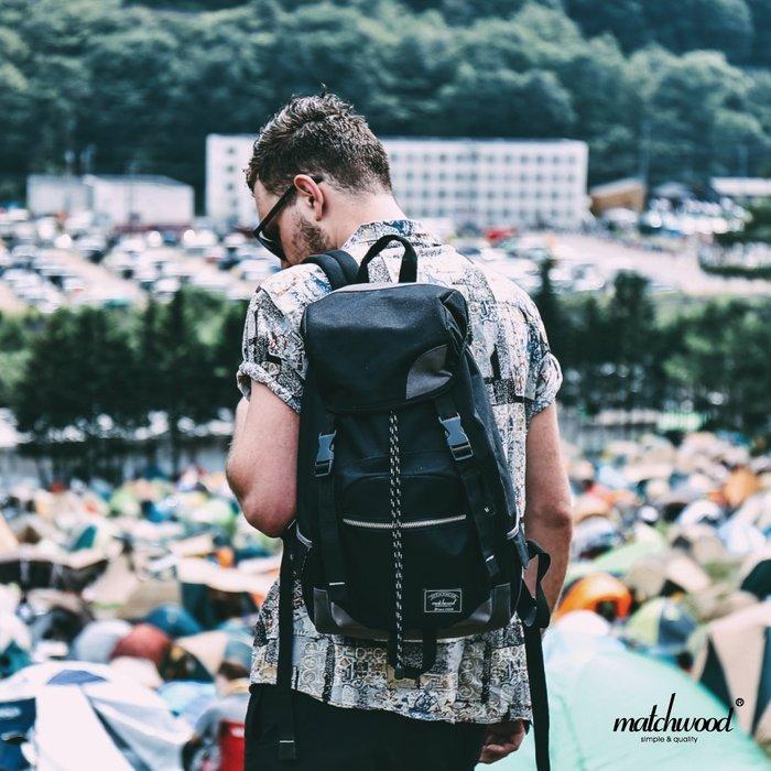 【Matchwood直營】Matchwood Apollo 後背包 附17吋內筆電夾層 黑灰款 出國旅遊 超取免運優惠