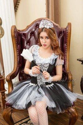 【Arms cat】Carol卡諾原單情趣可愛網紗蕾絲蓬蓬裙誘惑性感修身女仆制服套裝