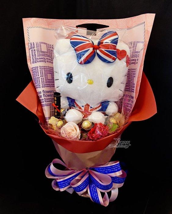 Hello Kitty 45周年 捧花,金莎捧花/花束/畢業花束/畢業典禮/求婚,節慶王【Y372162】