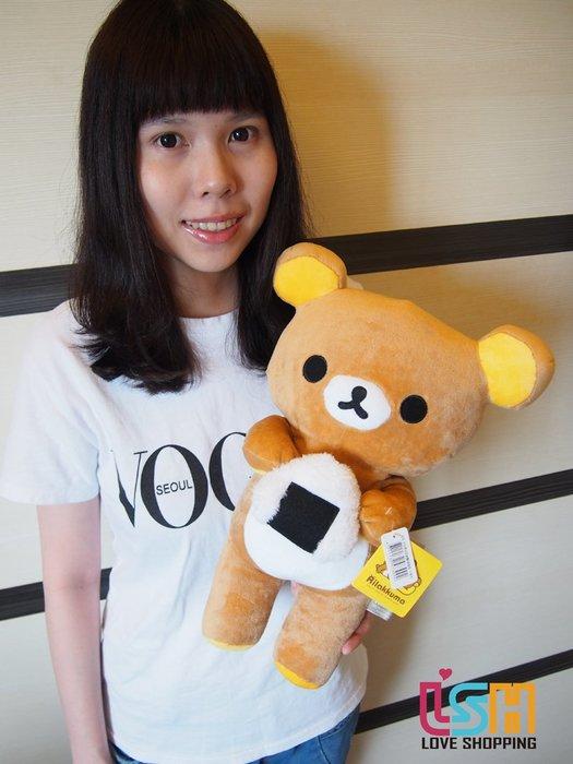 【愛購樂】 拉拉熊 飯糰款 懶懶熊 40CM 正版授權 玩偶 娃娃 抱枕