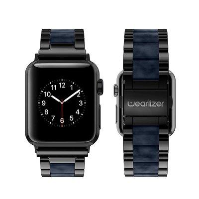 【Wearlizer】iwatch錶帶applewatch智能手錶不銹鋼金屬錶帶4/5/6代蘋果手錶40mm44mm