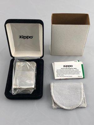 銀殼Zippo 銀殼打火機 全新