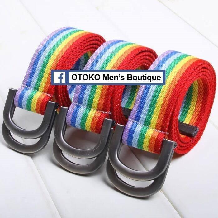 【OTOKO Men's Boutique】彩虹腰帶/休閒適用/派對適用/結婚適用/彩虹皮帶(男女通用)