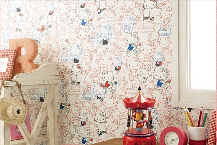 【Uluru】日本進口壁紙 Hello Kitty  壁紙 小孩房 兒童房壁紙 日本製