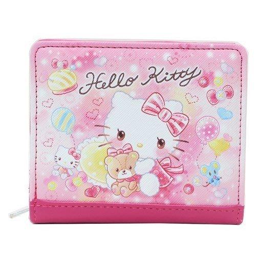 短夾 三麗鷗 Hello Kitty 美樂蒂 雙子星 繽紛 浪漫 渲染 菱紋 多層 錢包 皮夾 日本進口正版授權 Jus
