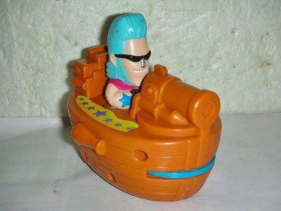 aaL.(企業寶寶玩偶娃娃)少見2007年麥當勞發行航海王對戰組-佛朗基開船公仔具迴力值得收藏!