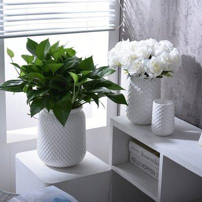 白色陶瓷花瓶 北歐現代居家臥室客廳陶瓷花瓶花器(2號)_☆優購好SoGood☆