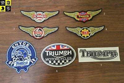 (I LOVE樂多)經典布章TRIUMPH BSA Norton Cafe Racer 英倫 咖啡風 Rockers